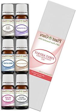 First Aid Kit Essential Oil Set Variety - 6 Pack - 100% Pure