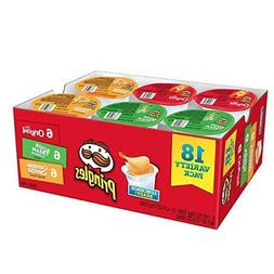 Flavored Variety Pack 18-Ct Pringles Snack Potato Crisps Chi