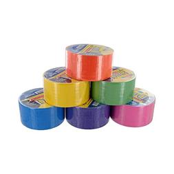 Bazic Fluorescent Colored Duct Tape, Assorted Colors, Pack o