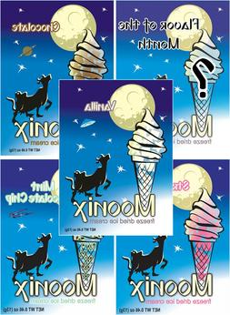 Moonix Freeze Dried Ice Cream VARIETY pack 5 ct FREE shippin