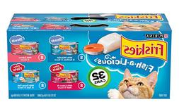 Purina Friskies Wet Cat Food Variety Pack, Fish-A-Licious Sh