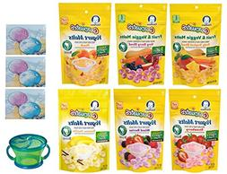 Gerber Graduates YOGURT MELTS Variety Pack + Snack Catcher;