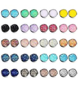 Glitter Stud Earrings Bulk