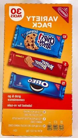 Nabisco Grab And Go Super Variety Pack Oreo Nutter Butter Ch