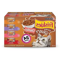 Purina Friskies Gravy Chunky Adult Wet Cat Food Variety Pack