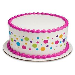 Happy Variety Dots Birthday Peel & STick Edible Cake Topper