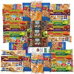 healthy bars nuts and crackers snack pack