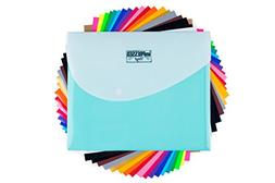 "HTV Heat Transfer Vinyl: 20 Pack 12"" x 10"" Sheets for Iron O"