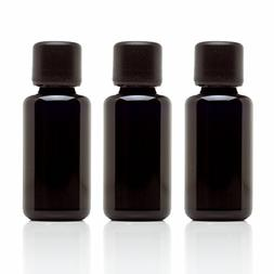 Infinity Jars 30 Ml  Black Ultraviolet Glass Essential Oil B