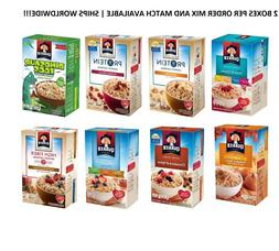 Quaker Instant Oatmeal Hot Cereal Pick N CHOOSE SET OF 2 BOX