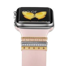 Elobeth iWatch 44mm 42mm 40mm 38mm Band Decorative Rings Loo