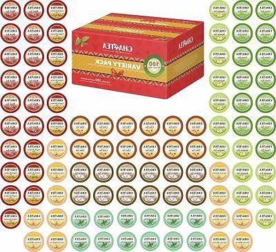 Cha4TEA 100 Keurig K-Cup Tea Variety Sampler Pack K Cups, Mu