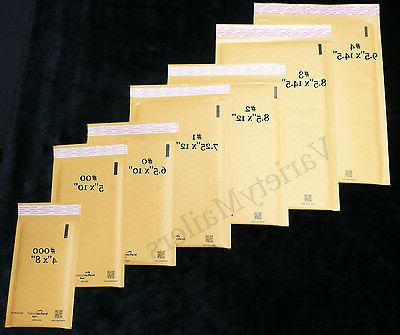 14 Kraft Bubble Envelope Combo ~ 2 Large Sizes ~ Self-Sealin
