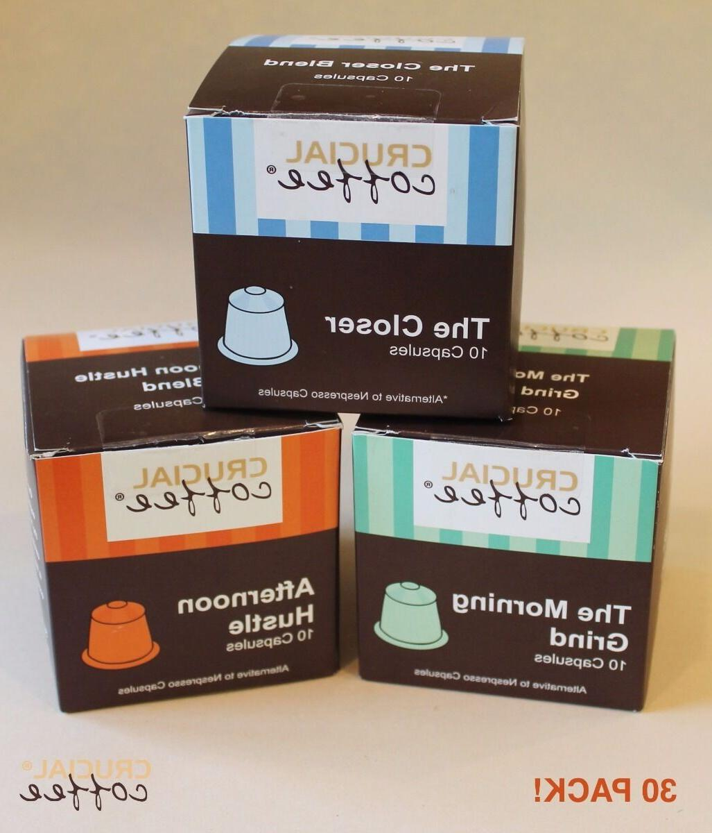 30 High Performance Coffee Capsules Variety Pack for Most Ne