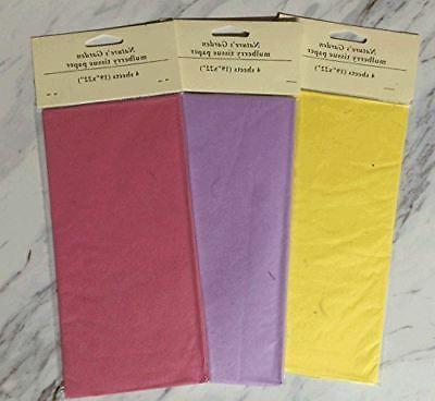 48 Sheets Total! Mulberry Tissue Variety Pack 12 Individual