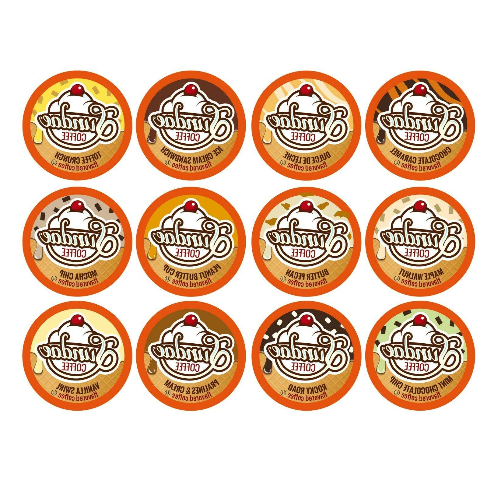48 Flavored K-Cups Coffee Variety Pack Keurig K-Cup Brewers