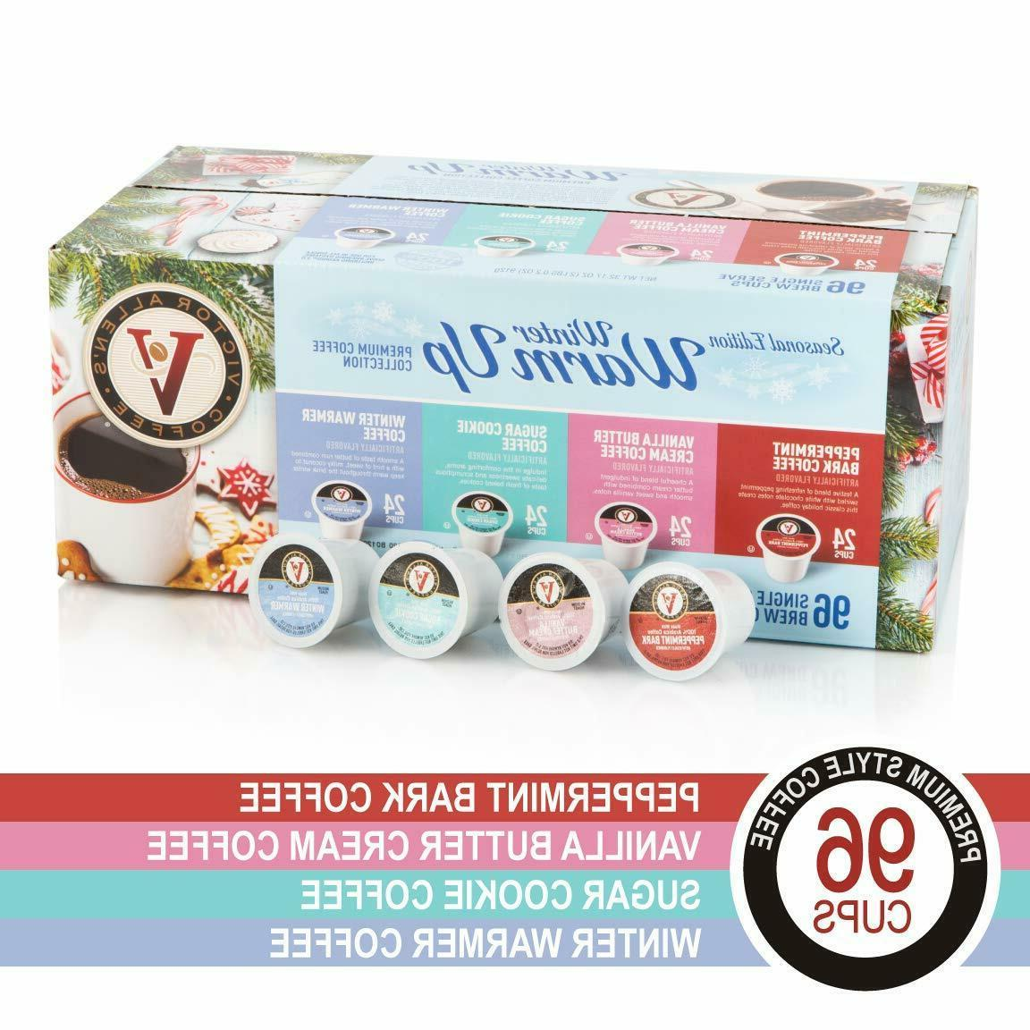 96 count winter variety pack coffee pods