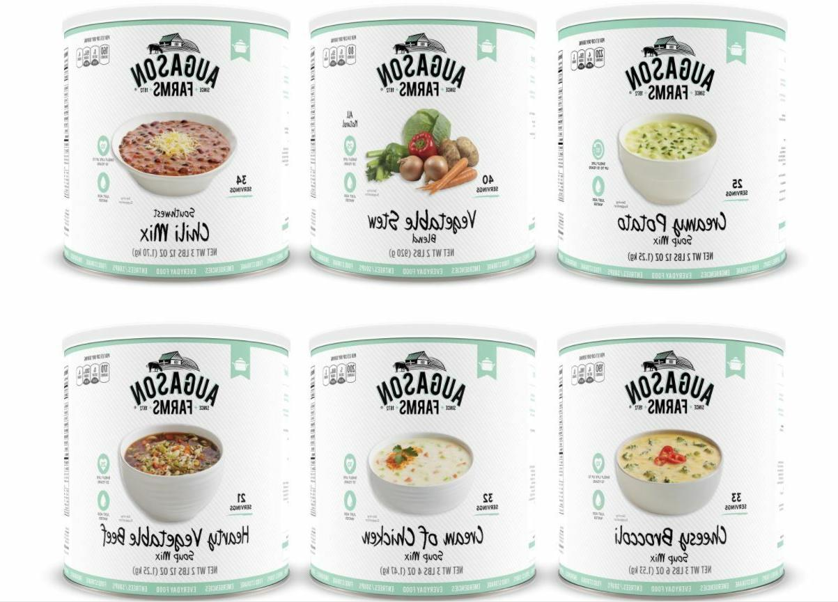 Augason Farms 6 Pack Soup Variety Food Storage Emergency sur