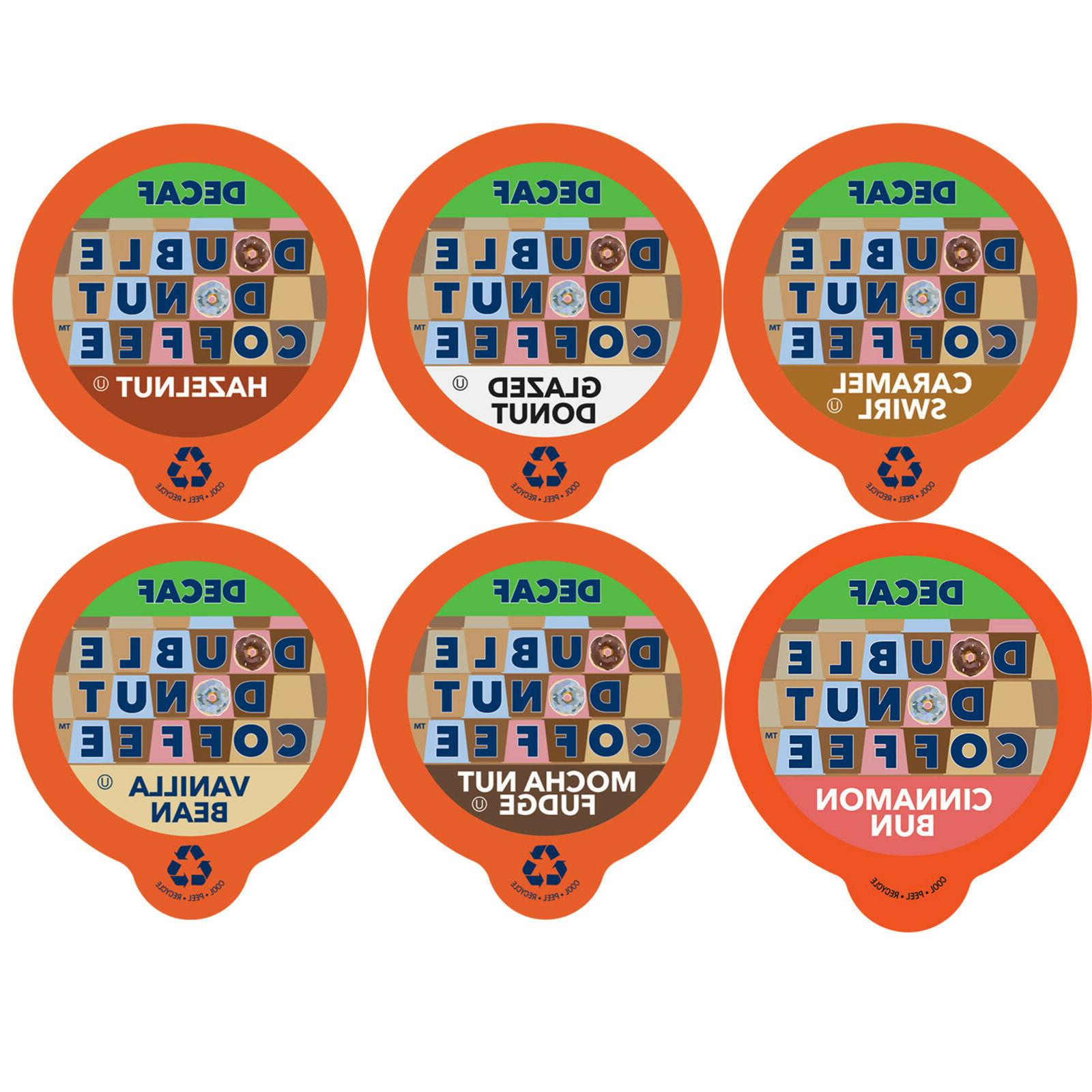 Double Donut 72 Ct Decaf Flavored Coffee K-Cups Variety Pack