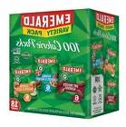 Emerald Nuts Variety Pack, 100 Calorie Almonds, Walnuts, Cas