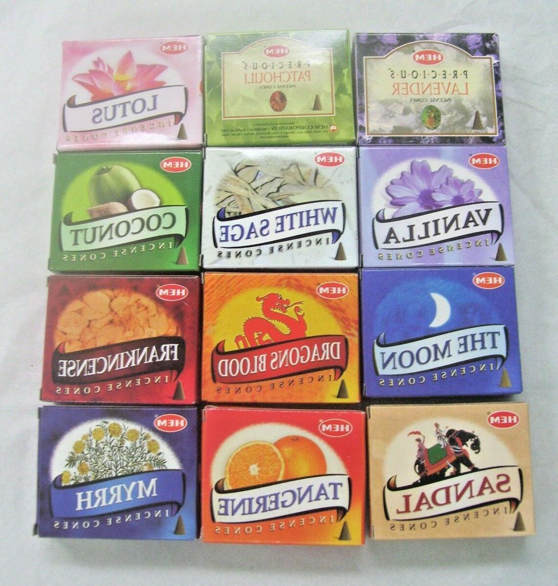 Hem Best Seller #2 Variety Pack Incense Cones, Mixed Lot 12