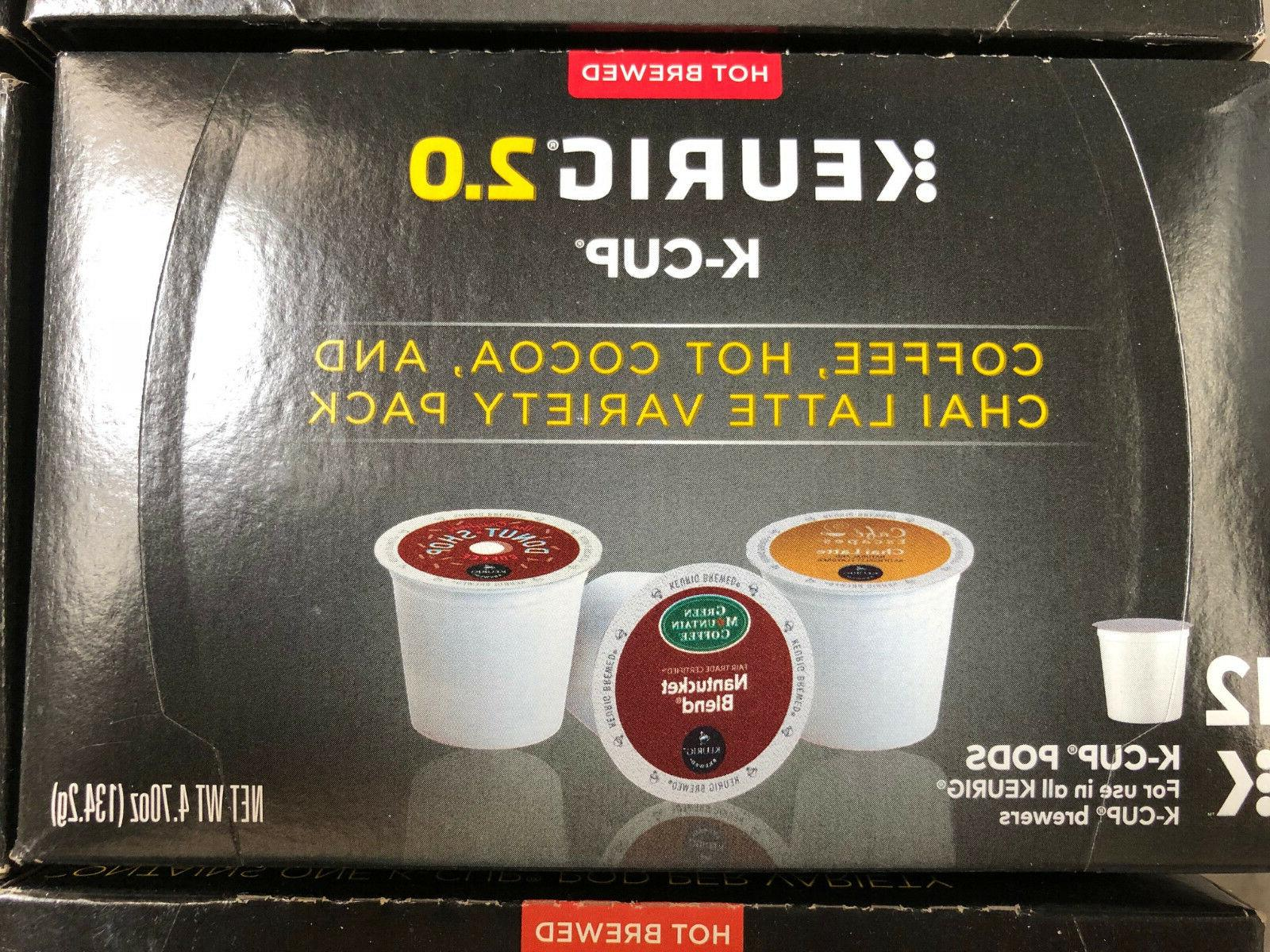 KEURIG Coffee Hot Cocoa and Chai Latte & 2.0 variety pack sa