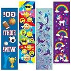 Kids Bookmarks Bulk Variety Pack - 48 Bookmarks Total 12 Mer