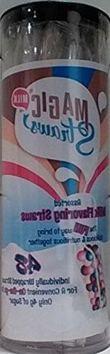 Milk Magic, Milk Flavoring Straws, Variety Pack, 48 Ct, Poss