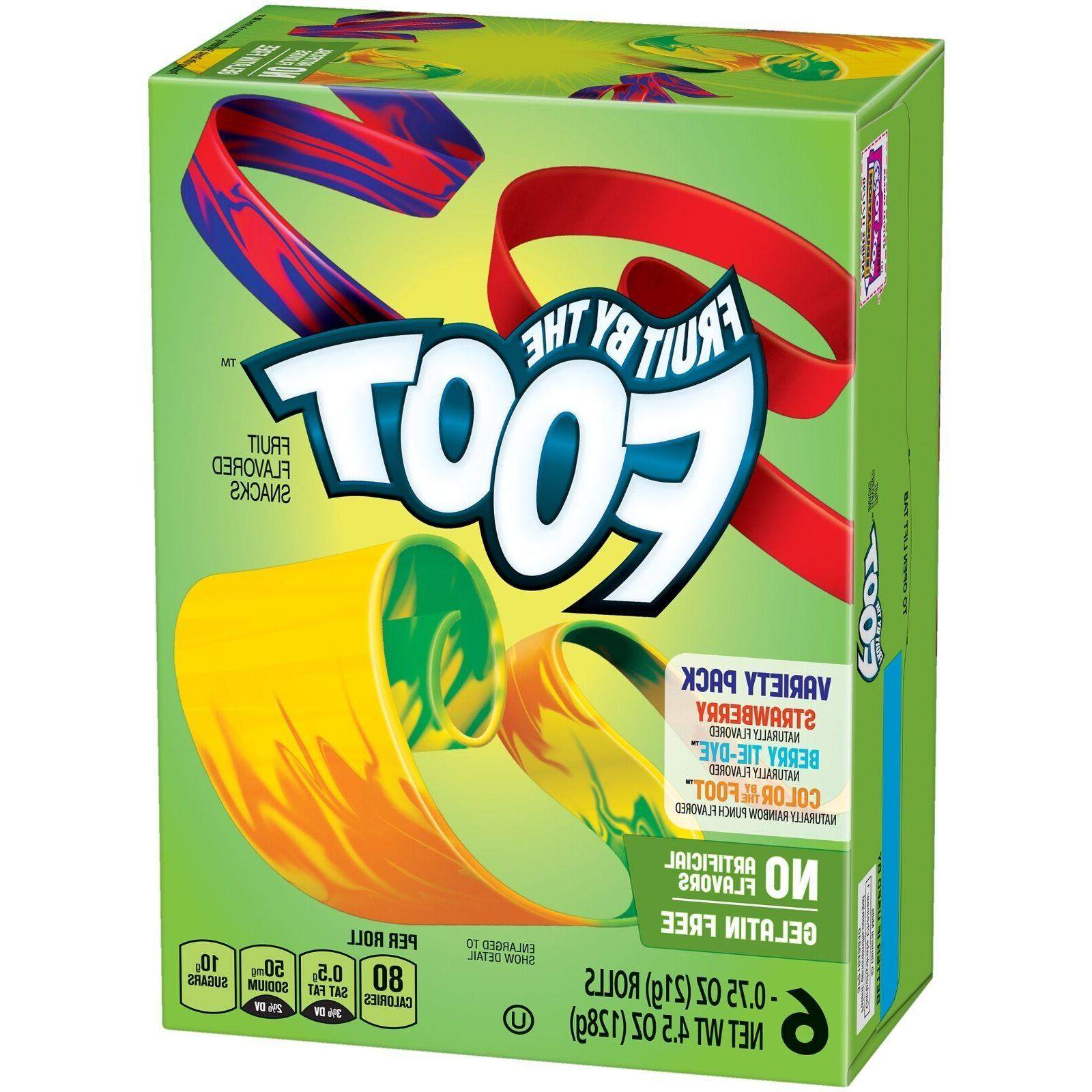 NEW FRUIT BY THE FOOT FRUIT FLAVORED SNACKS 6 ROLLS 4.5 0Z V
