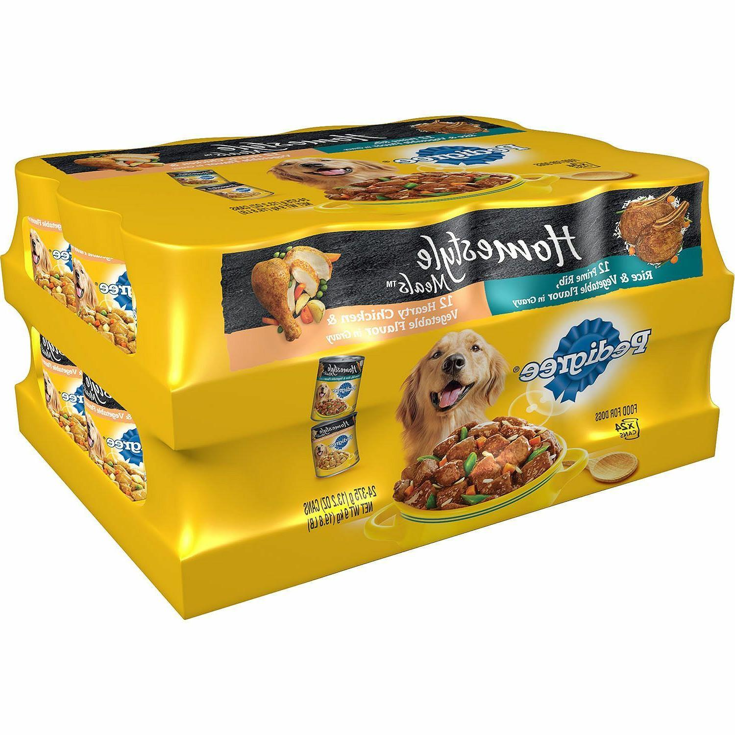 Pedigree Homestyle Choice Cuts Wet Dog Food Variety Pack 24