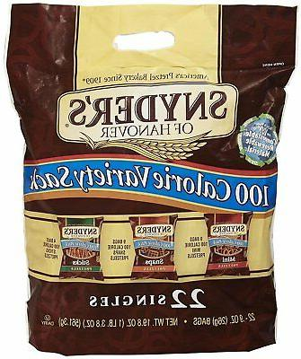Snyder's 100 Calorie Tray Pack - Sack 0.9 oz -