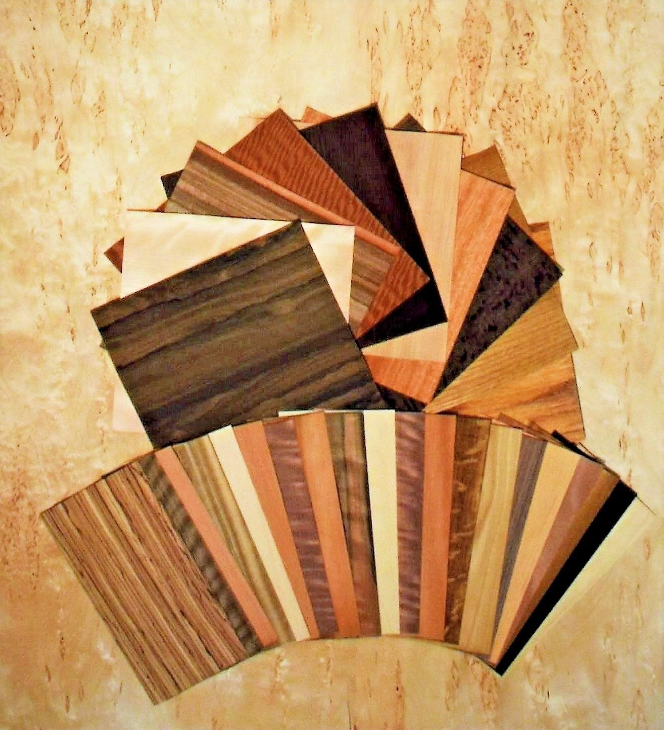 "Wood Veneer variety pack 20 Sq.ft  With 30 to 40 pieces 6""X1"