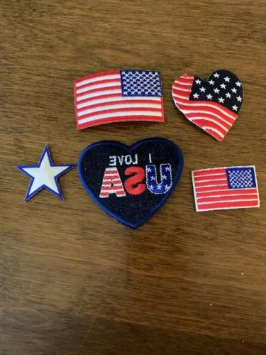 american flag iron on patch assortment united