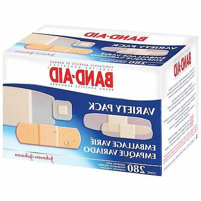 Band Aid Variety Pack Johnson 280 Assortment Bandaids First