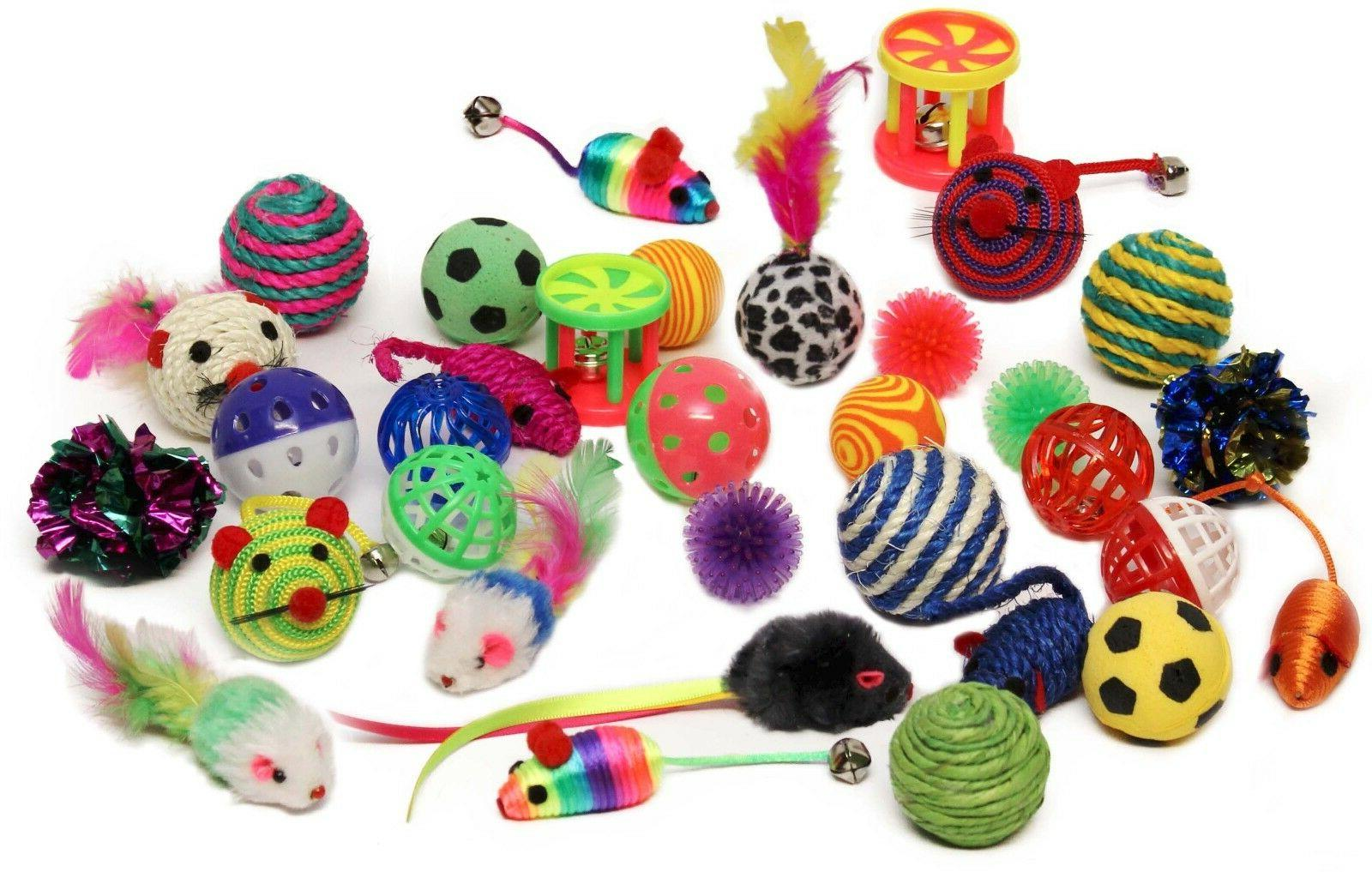 Sweet Pete Cat Toys Variety Pack 20 Assorted Pieces with Cat