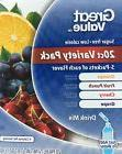 Great Value Cherry Grape Orange Fruit Punch Variety  Drink M