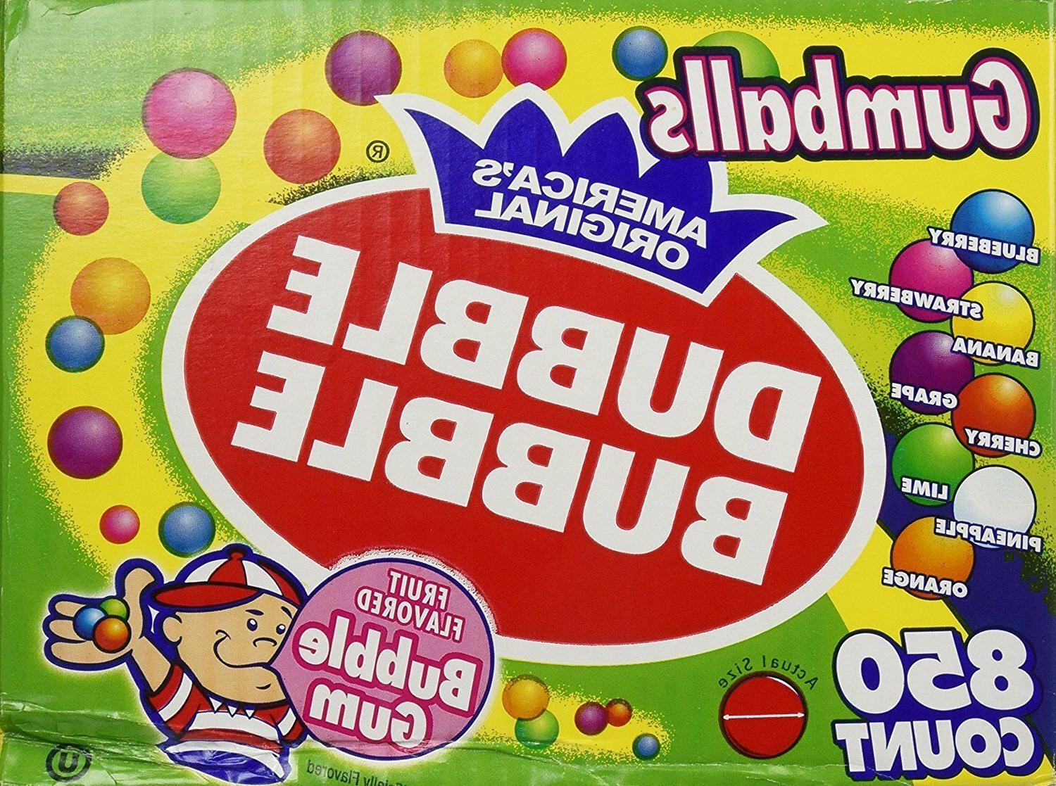 Dubble Bubble 1 Inch Gumballs 24mm- 3 Pounds-Bulk for Vendin