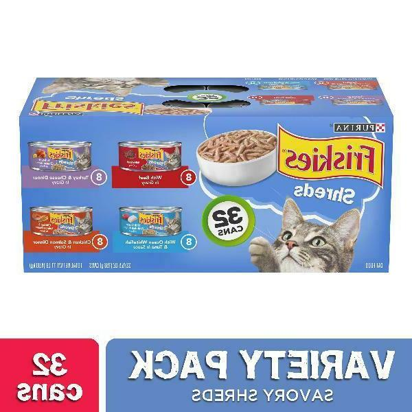 Purina Friskies Savory Shreds Cat Food Variety Pack 32-5.5 o