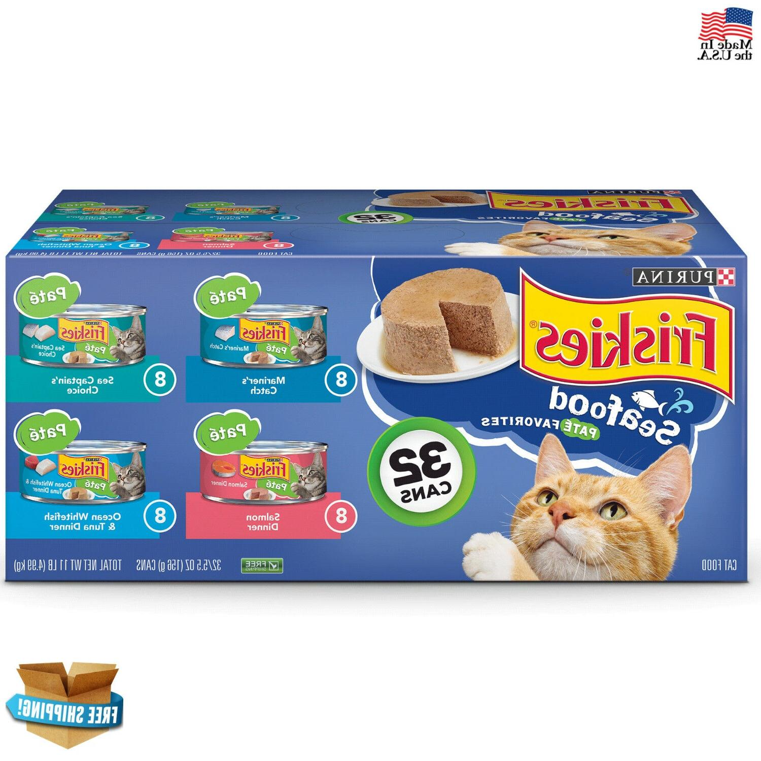 Friskies Wet Cat Food Meaty Bits 4-Flavor Seafood Variety Pa