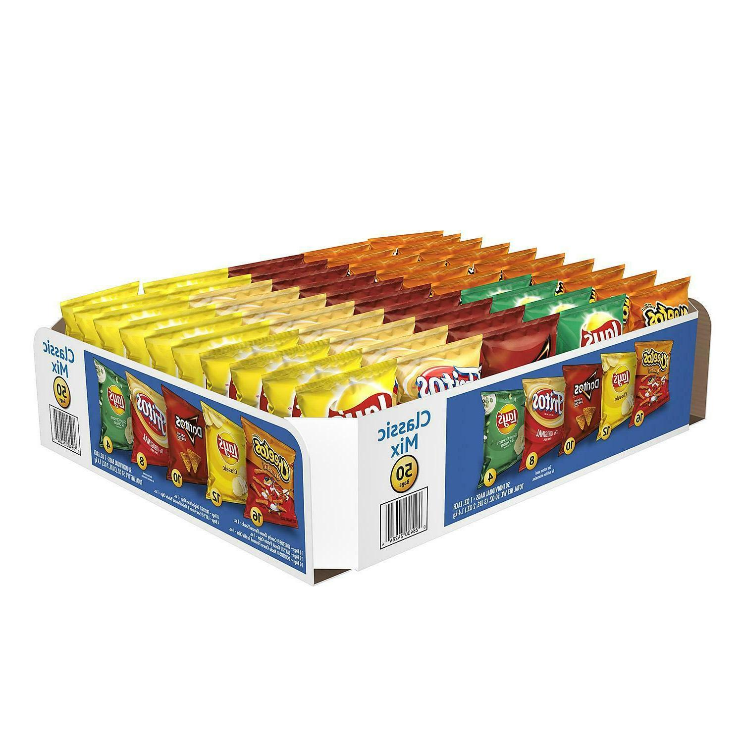 50 Mix Snacks, Includes Five