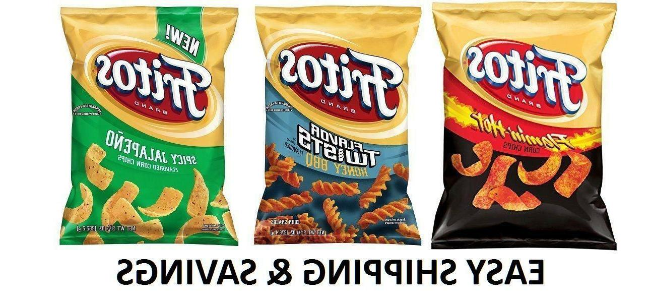 Fritos Corn Chips Multiple Variety 9.25 Oz Spicy Honey PACK
