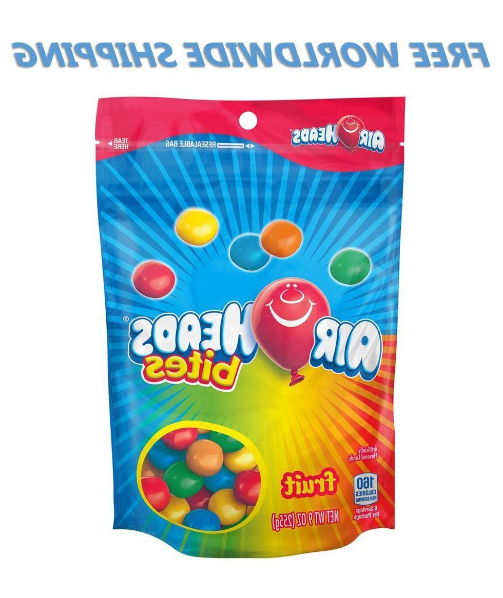 Airheads Fruit Candy Bites Assorted Flavors 9 Oz  WORLDWIDE