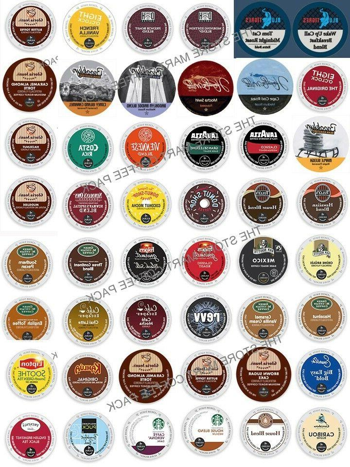 K-Cup Custom Variety PACKS, 16-64 Coffee And Tea K CUPS Samp