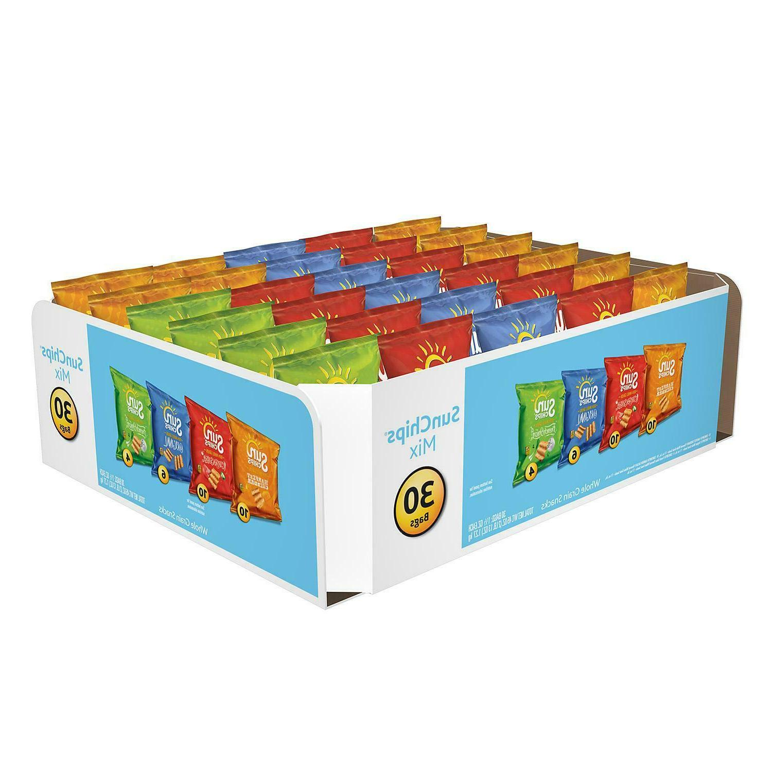 mix variety pack 30 pk sun chips