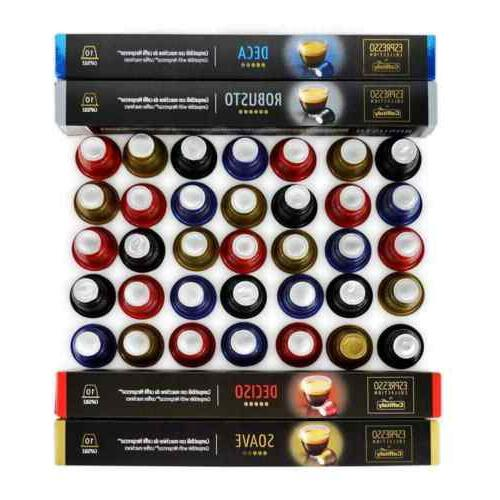 Caffitaly Nespresso Coffee Capsules Variety Pack 40