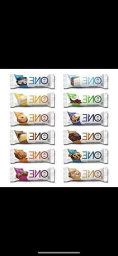 ONE PROTEIN BARS  Variety Pack 20g Protein  1g Sugar FREE SH