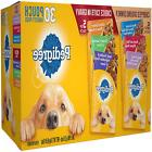 Pedigree Pouches 6 Flavor Variety Pack Treat Meal Topper 30