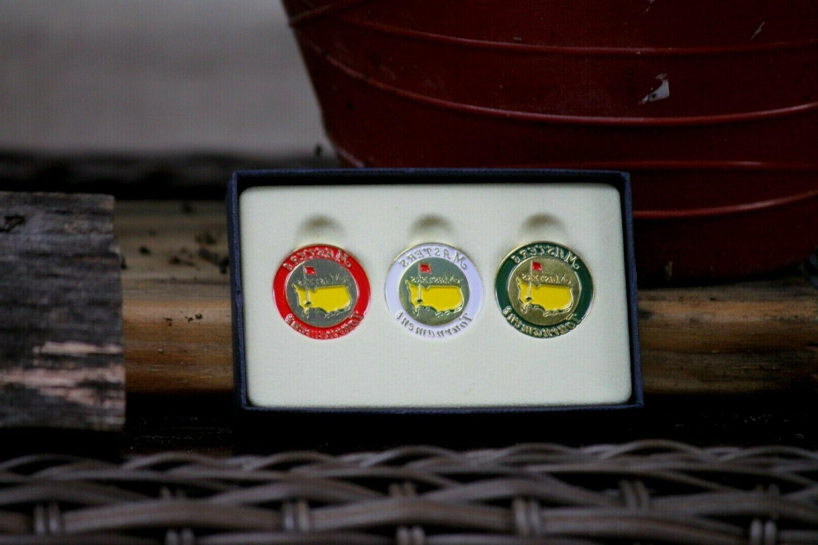 the masters tournament ball markers 3 pack