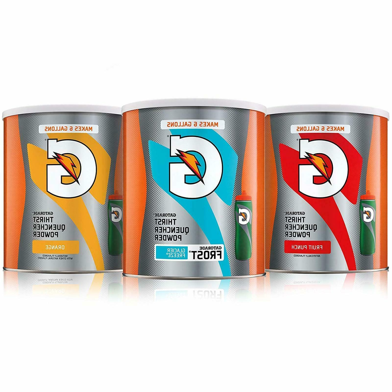 Gatorade Thirst Quencher 51oz Powder Variety Pack 3 Count Fl