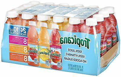 Tropicana Juice 3 Flavor Fruit Blend Variety 10 oz Bottles P
